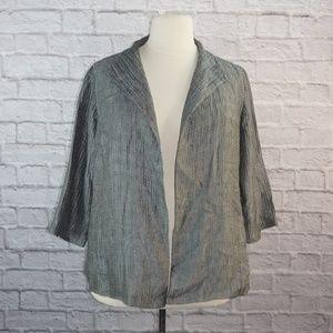 Eileen Fisher Crinkle Silk Jacket 3x ***